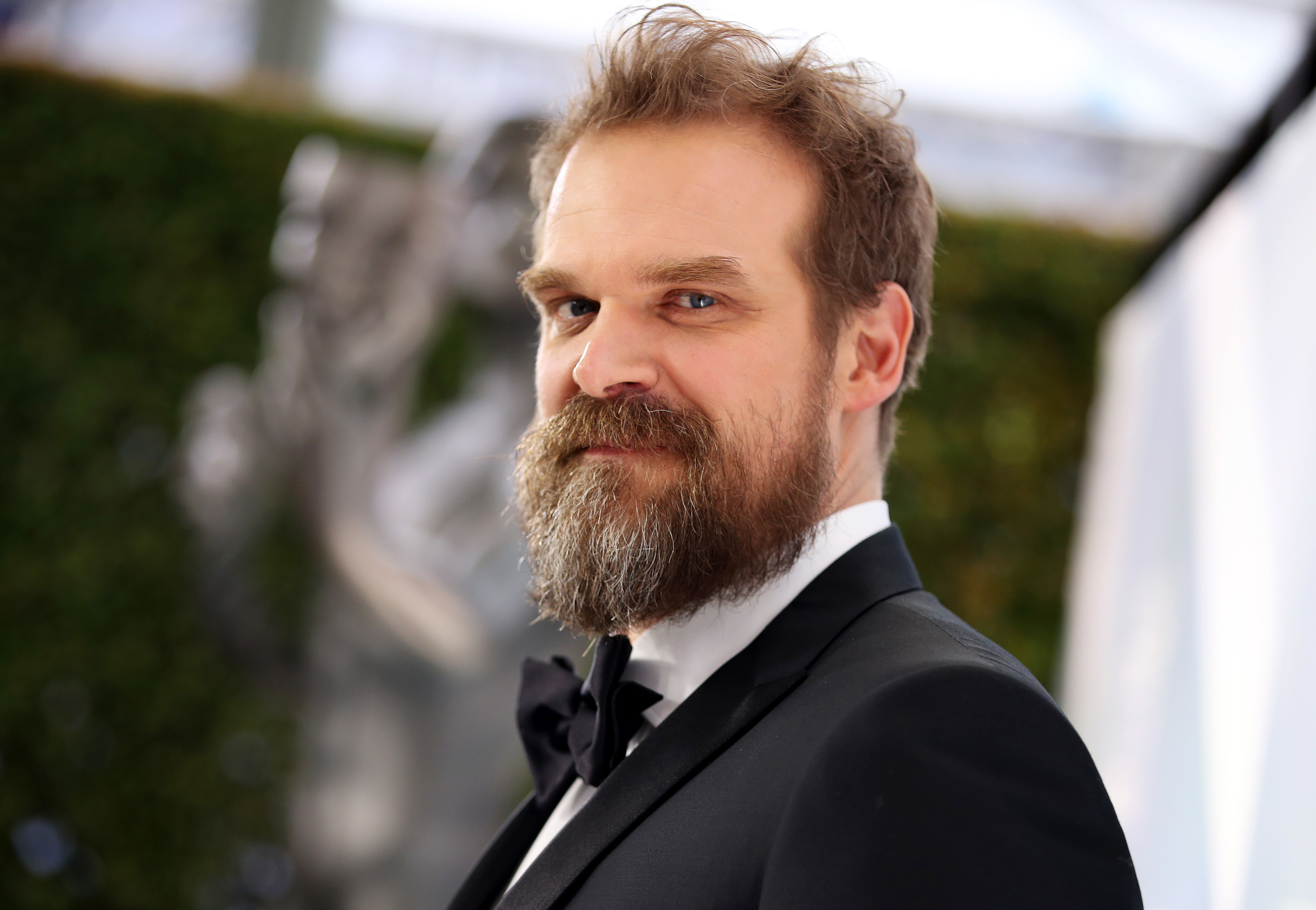 David Harbor is pictured at the Screen Actors Guild Awards in 2020