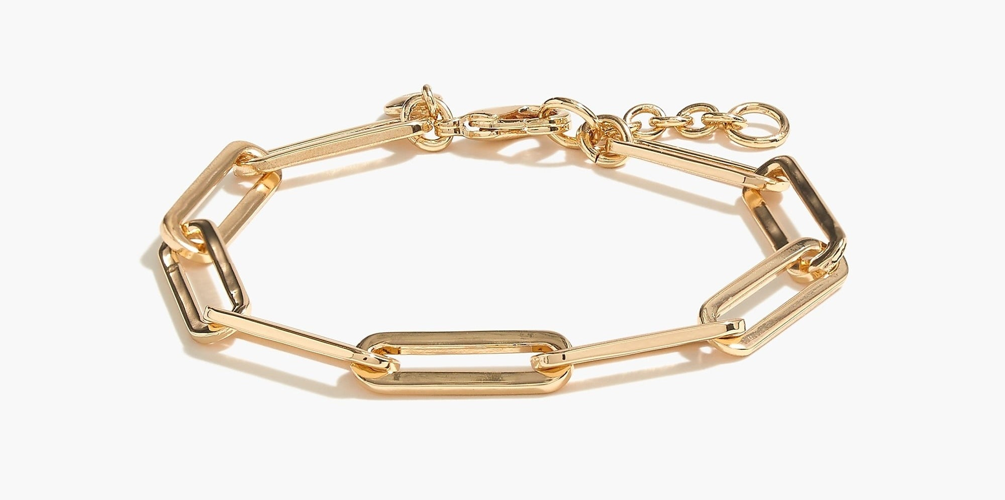 paper-clip link bracelet