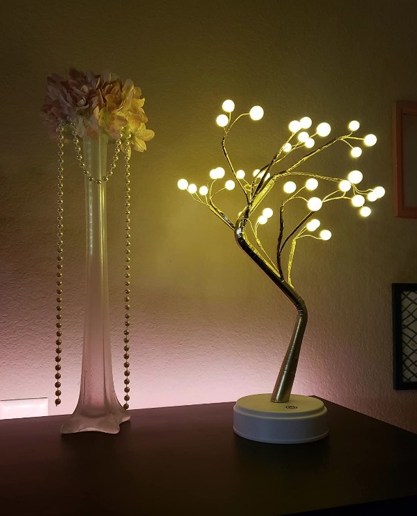 A tabletop fairy tree light