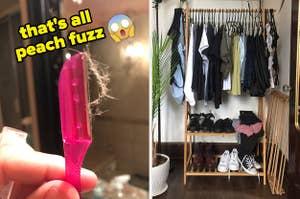 razor and closet