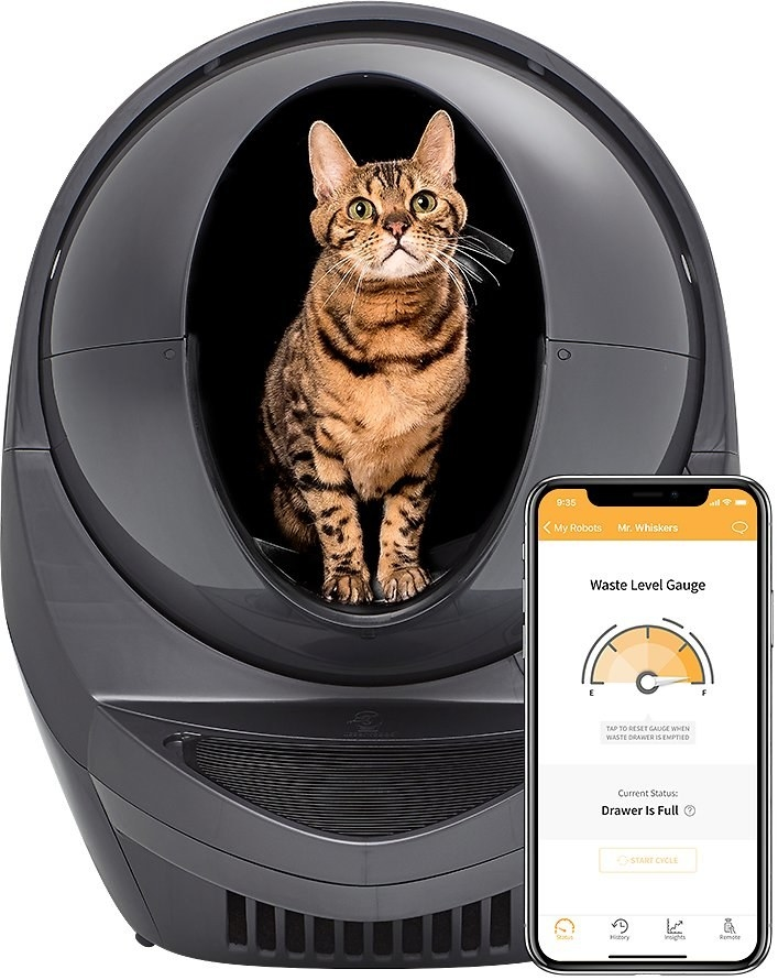 the self-cleaning litter box