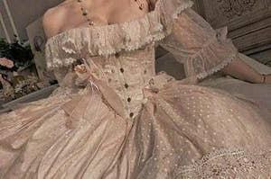 Woman in a ballgown
