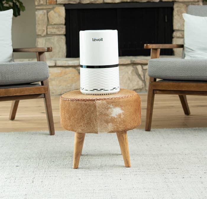The white air purifier