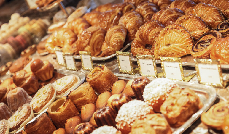 Rows of baked goods