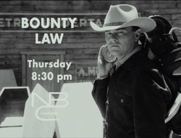 "Leonardo DiCaprio as Jake Cahill in ""Bounty Law"""