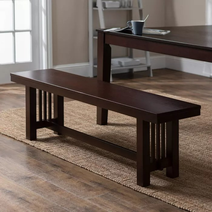 The cappuccino wood dining bench