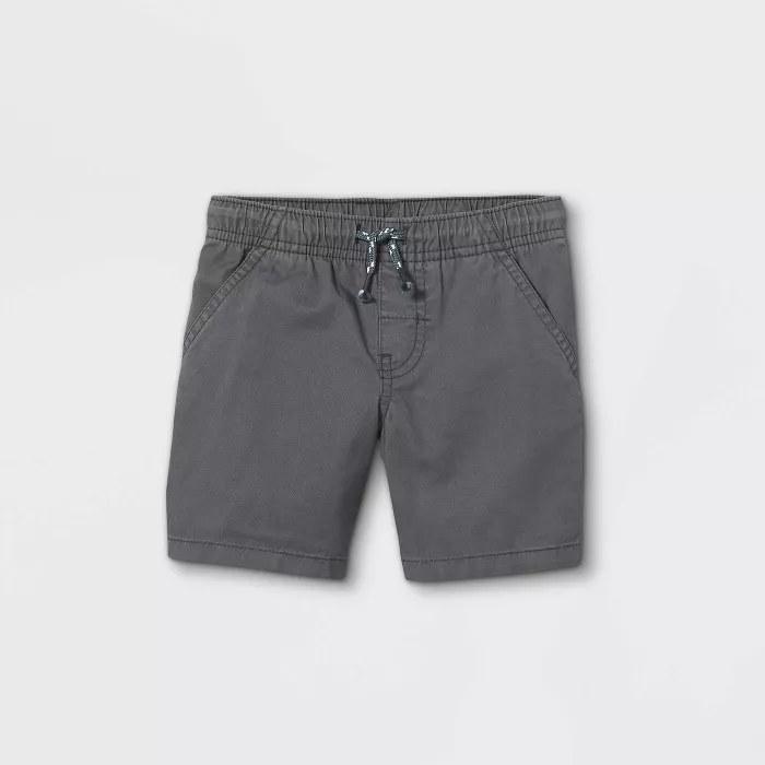 The gray shorts