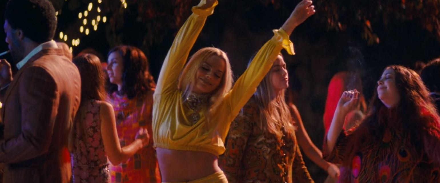 Sharon Tate dances at the Playboy Mansion party
