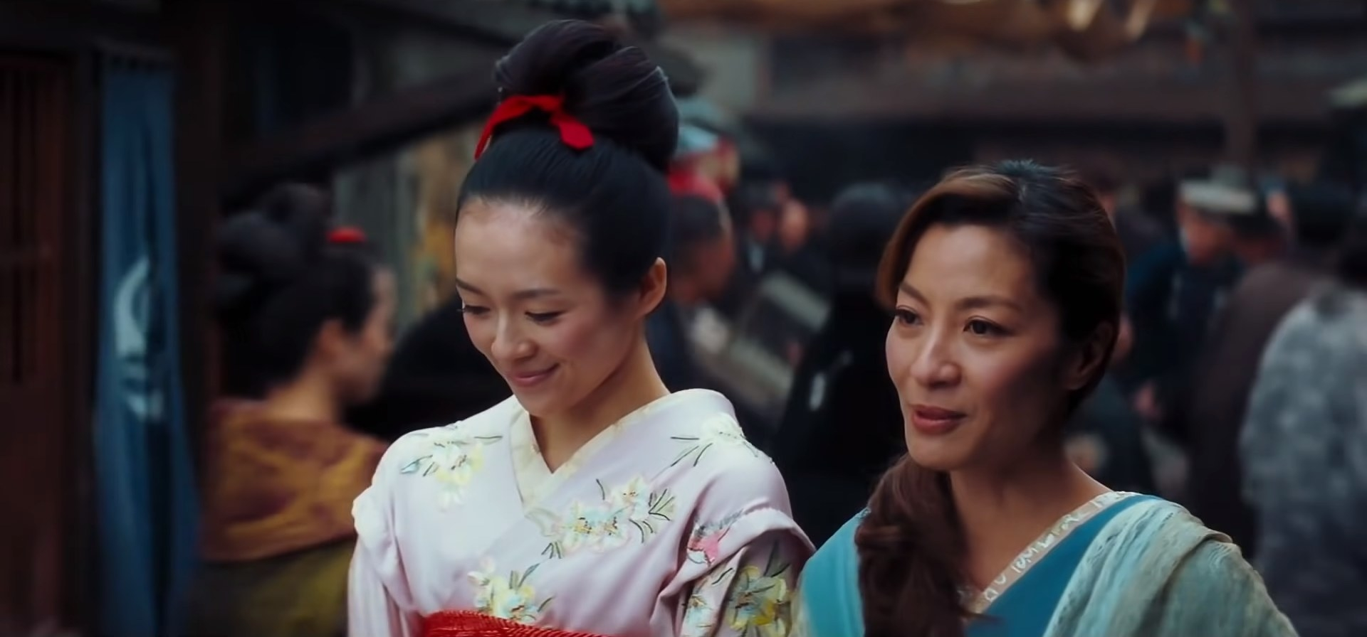 Two women in traditional Japanese dress