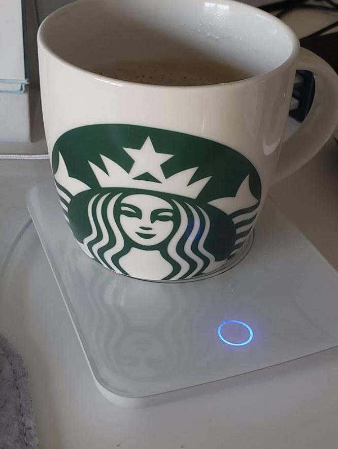 reviewer image of mug on top of coffee warmer