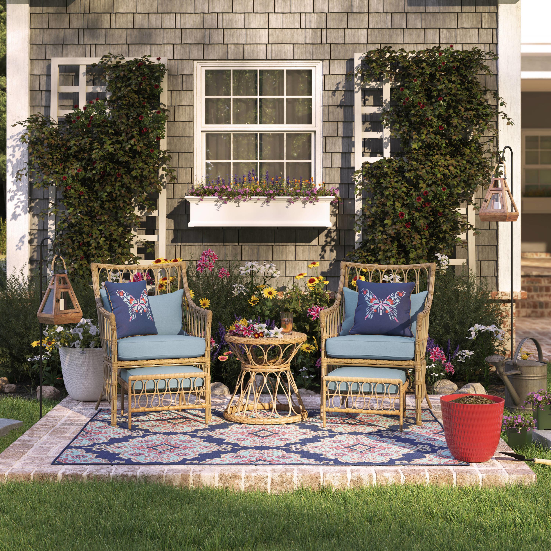 An image of a rattan patio furniture set