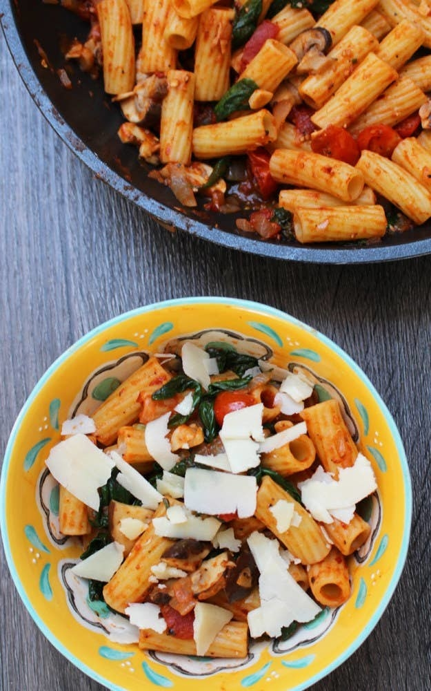 Penne with rigatoni