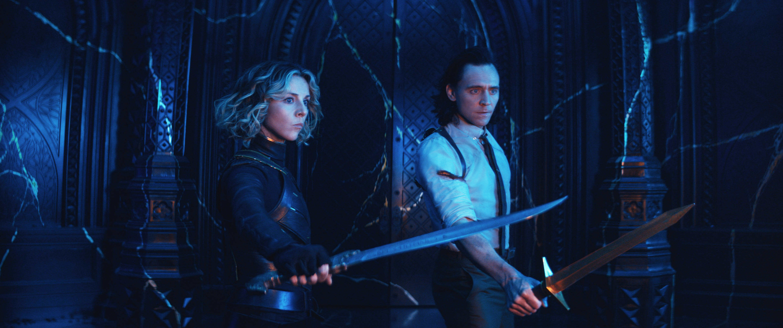 Sylvie and Loki ready to fight
