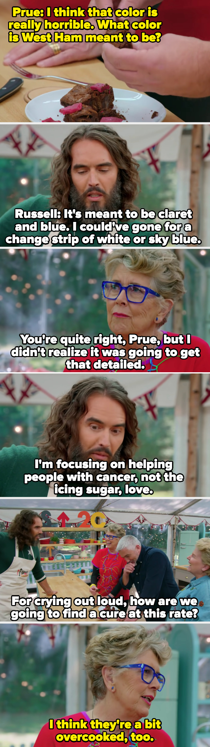 Brand asks how they're going to find a cure for cancer while they're worrying about icing sugar