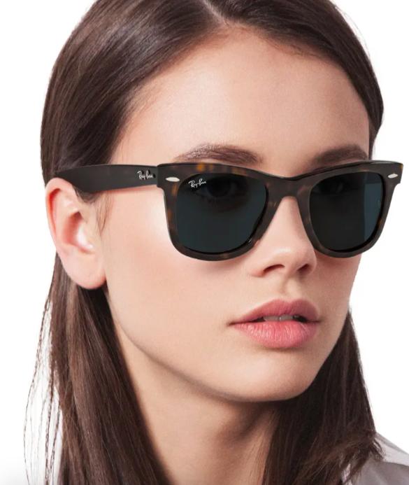 A model wearing theWayfarer Sunglasses