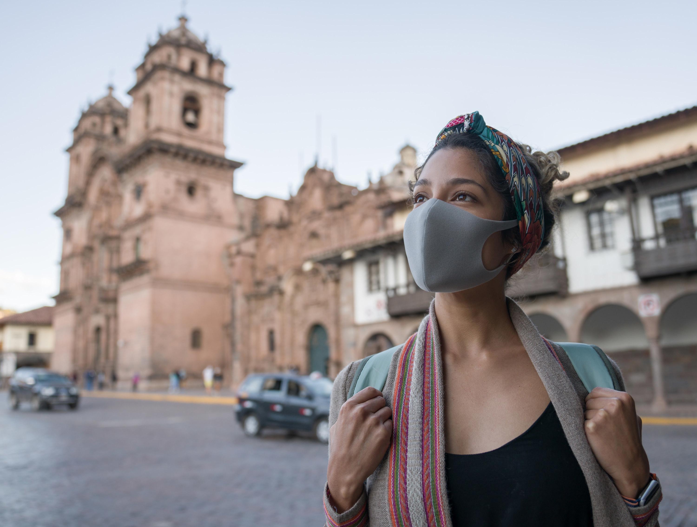 A tourist in Peru