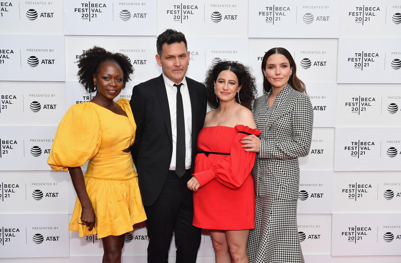 Zainab Jah, John Lee, Ilana Glazer, and Sophia Bush are pictured at the premiere of False Positive