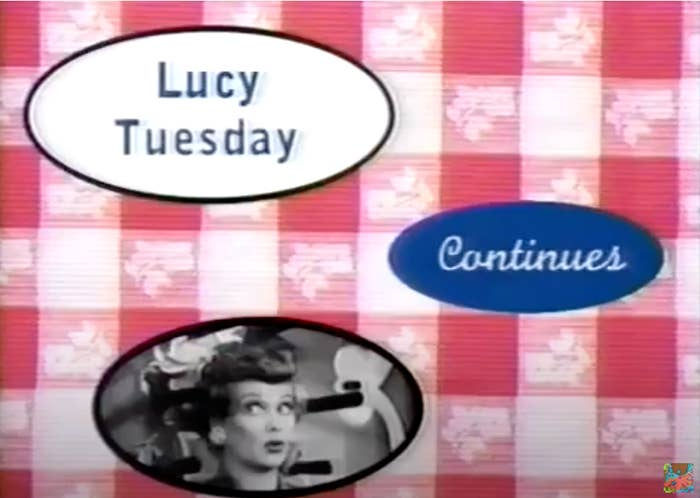 Screenshot of Lucy Tuesdays Nick at Nite commercial