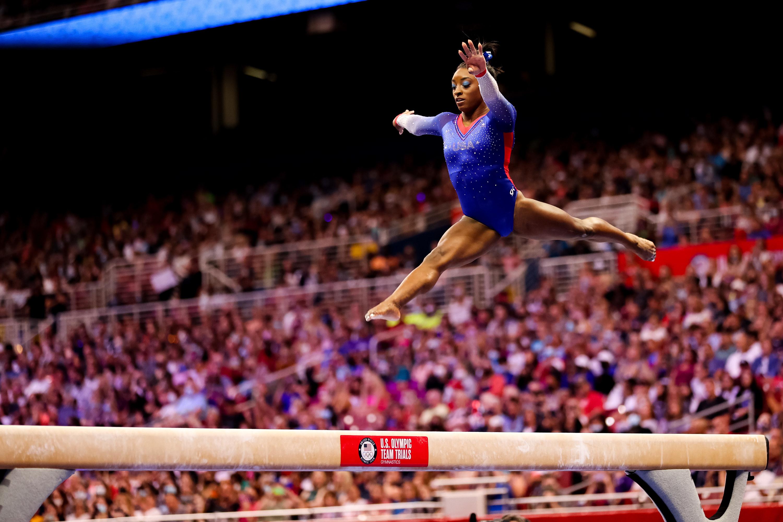 Simone Biles on jumping on beam