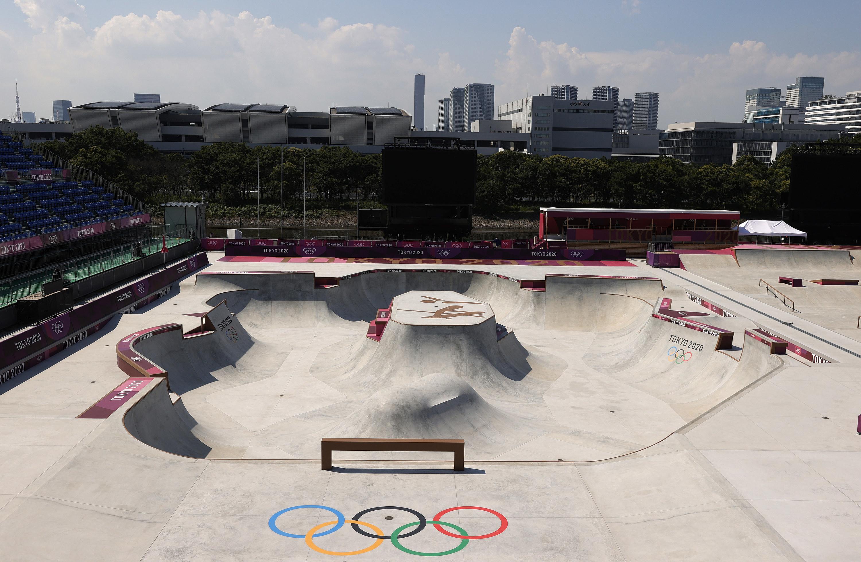 Skate park at the Tokyo Olympics