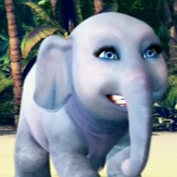 Tika (an elephant with makeup on)