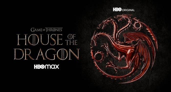 The House of Dragon logo, which features a red three-headed dragon in a round crest