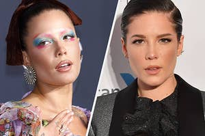 Halsey on the red carpet