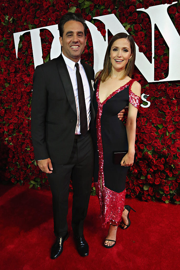 Bobby Cannavale (L) and Rose Byrne attend the 70th Annual Tony Awards