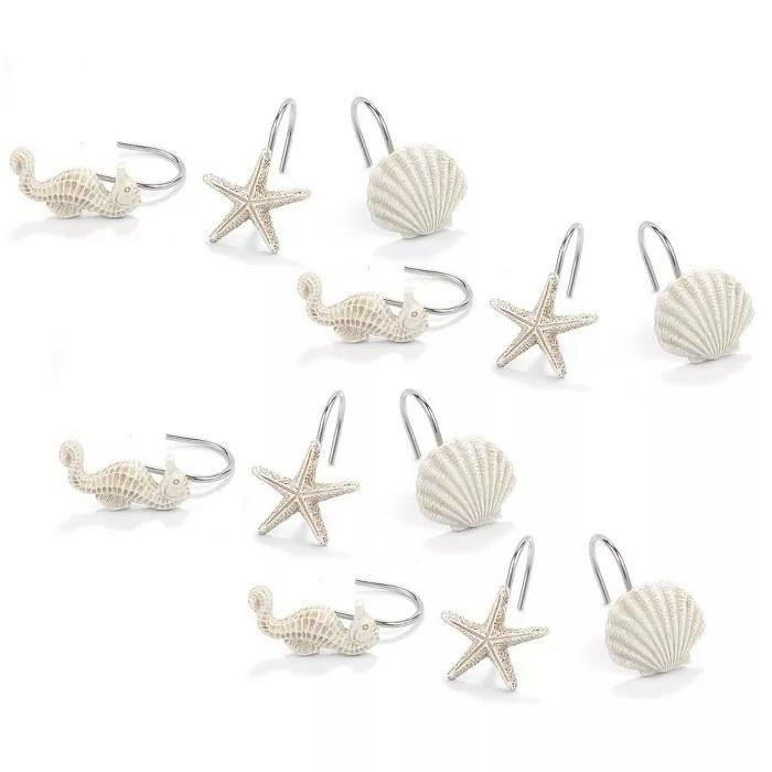 The white ocean-themed hooks