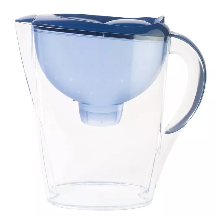 The blue pitcher