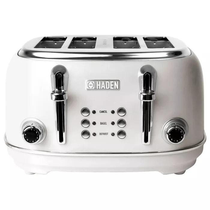 The white Haden toaster
