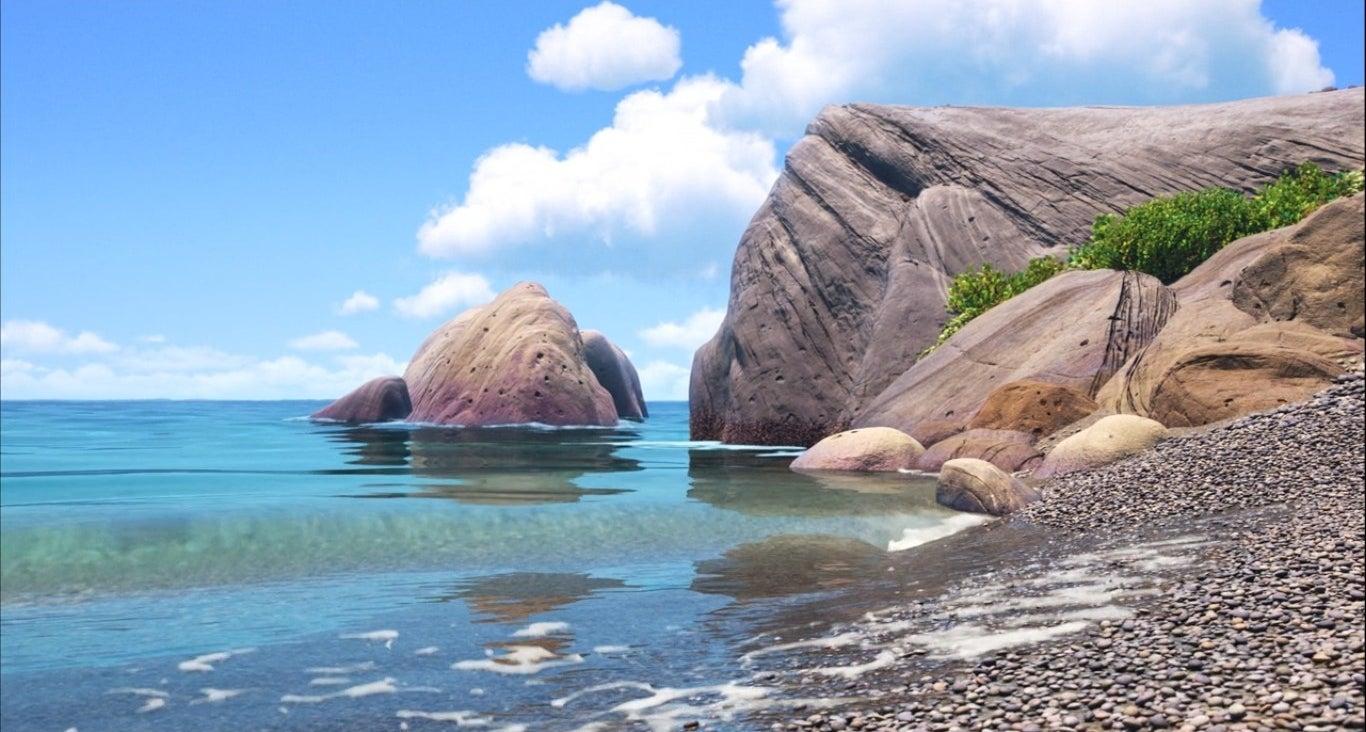 A shot of the beach