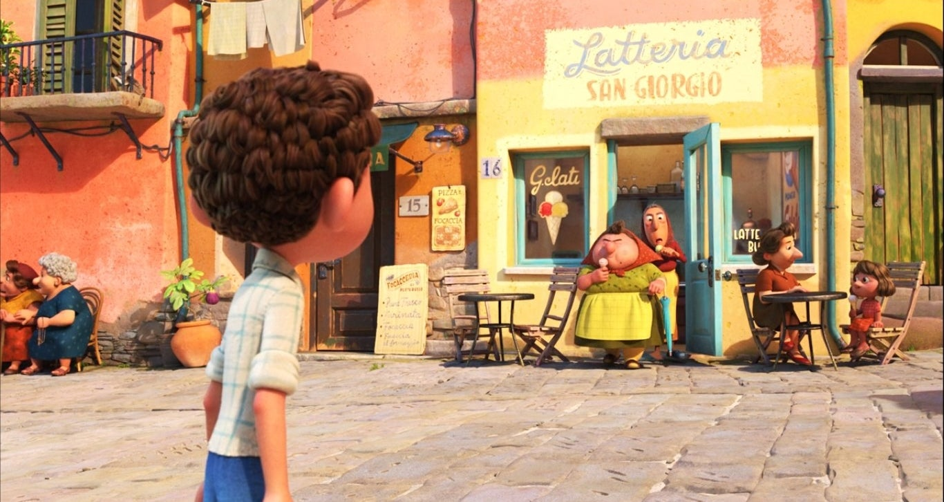Luca looks at a gelato shop in Portorosso