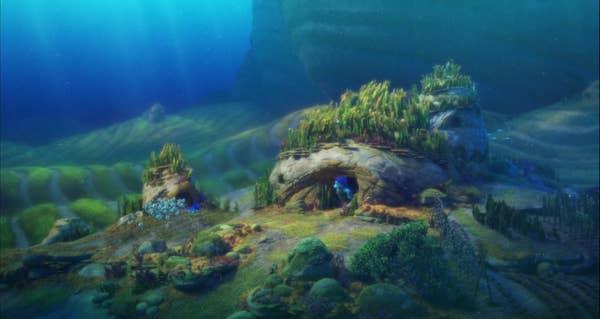 Luca's undersea home Luca Beautiful Shots That Prove It Deserves An Oscar