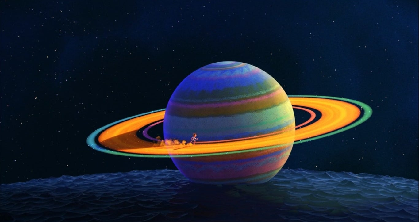 Luca dreams about running on the rings of Saturn