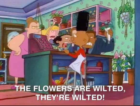 the flowers are wilted