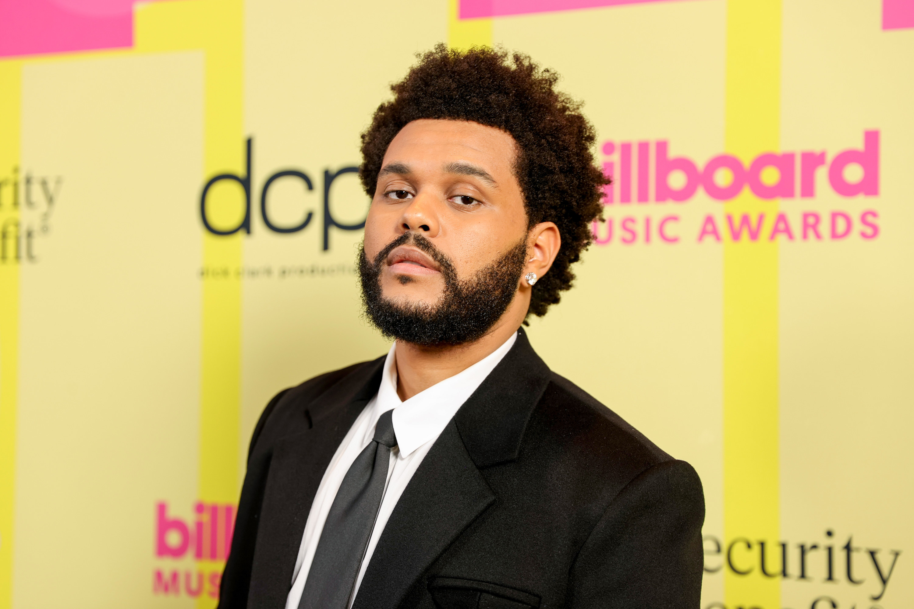The Weeknd poses backstage for the 2021 Billboard Music Awards, broadcast on May 23, 2021, at Microsoft Theater in Los Angeles, California