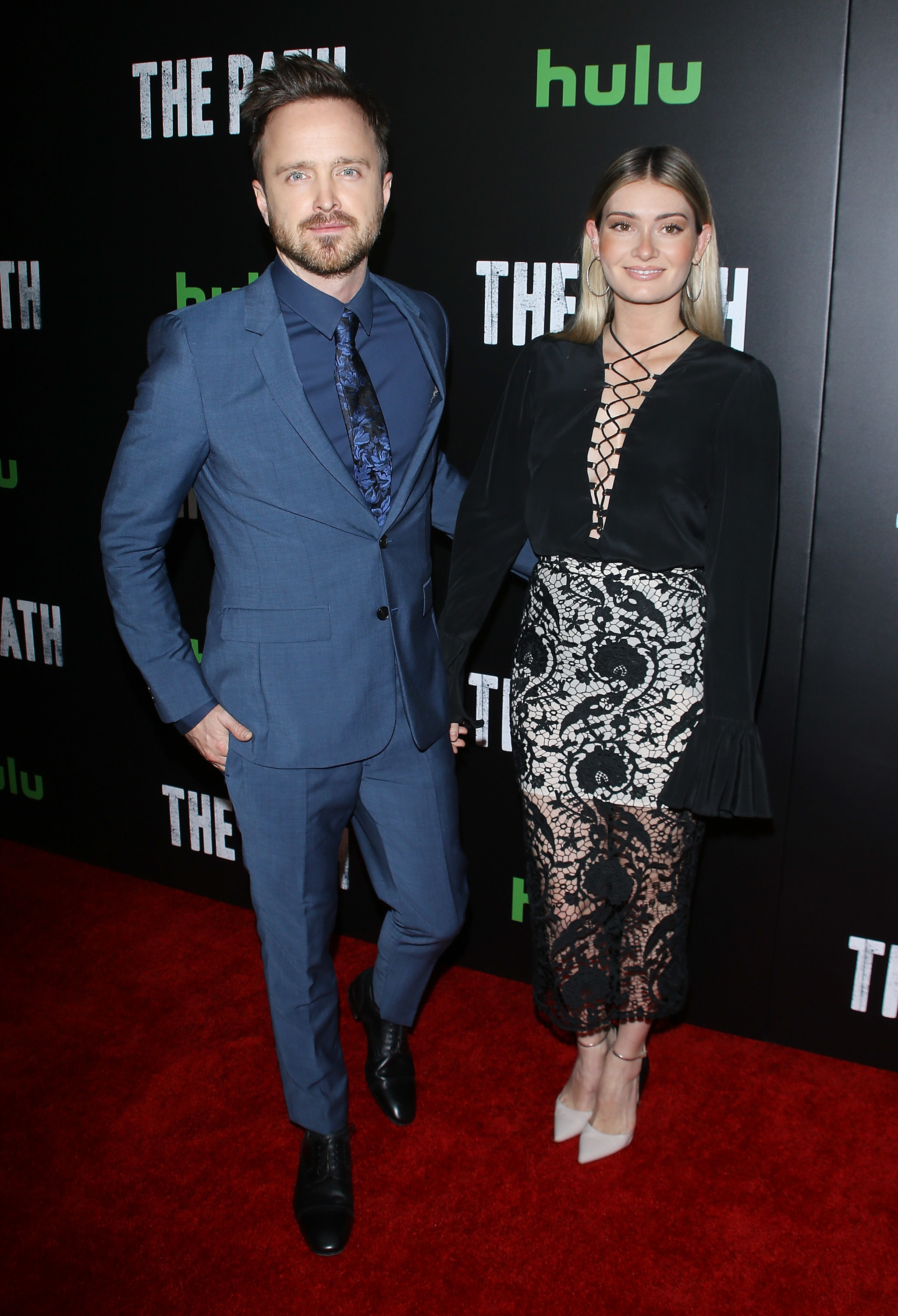 at the premiere of the path, aaron's show