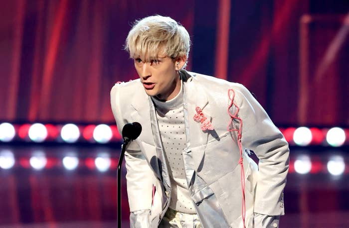Machine Gun Kelly appears at the 2021 iHeartRadio Music Awards