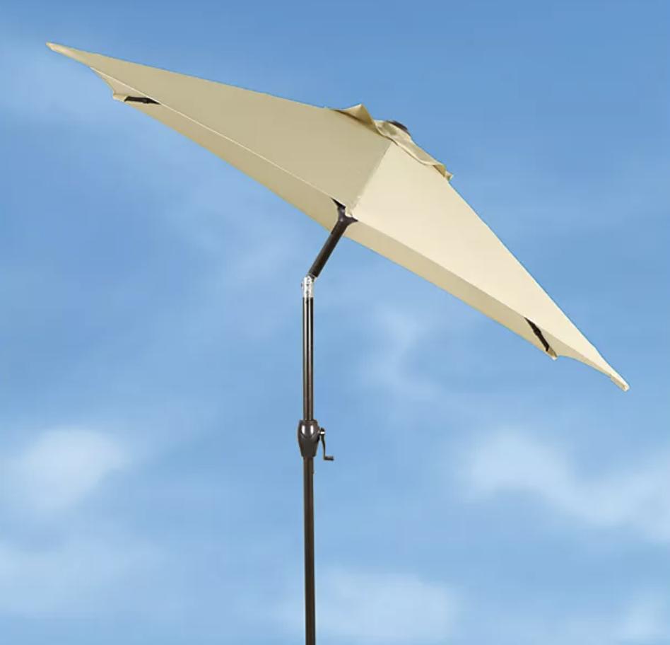 The umbrella in yellow