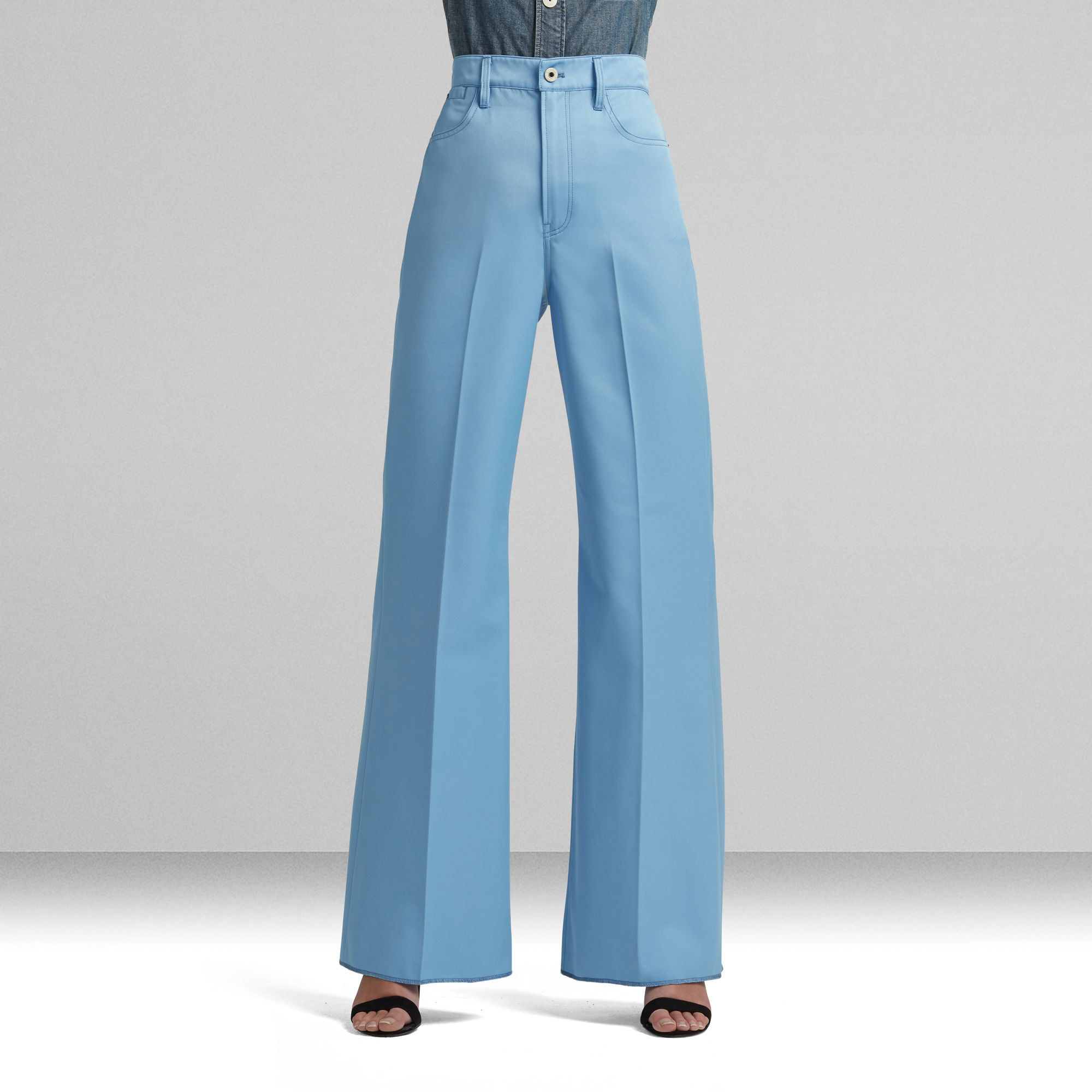 The pants in blue