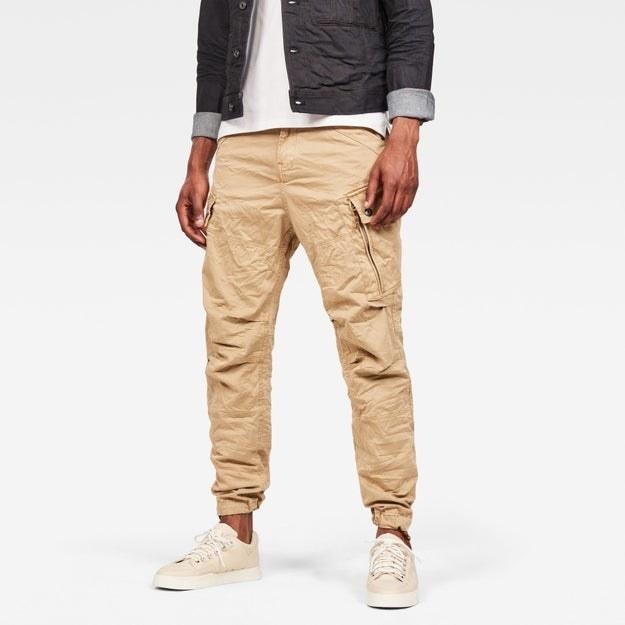 A model wears the pants in Sahara