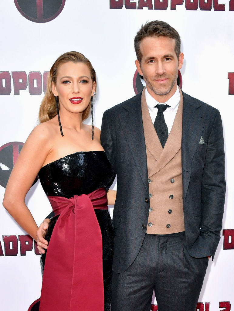 Blake Lively (L) and Ryan Reynolds attend the 'Deadpool 2' screening