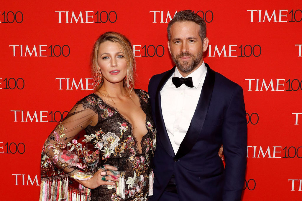 Blake Lively (L) and Ryan Reynolds attend the 2017 Time 100 Gala