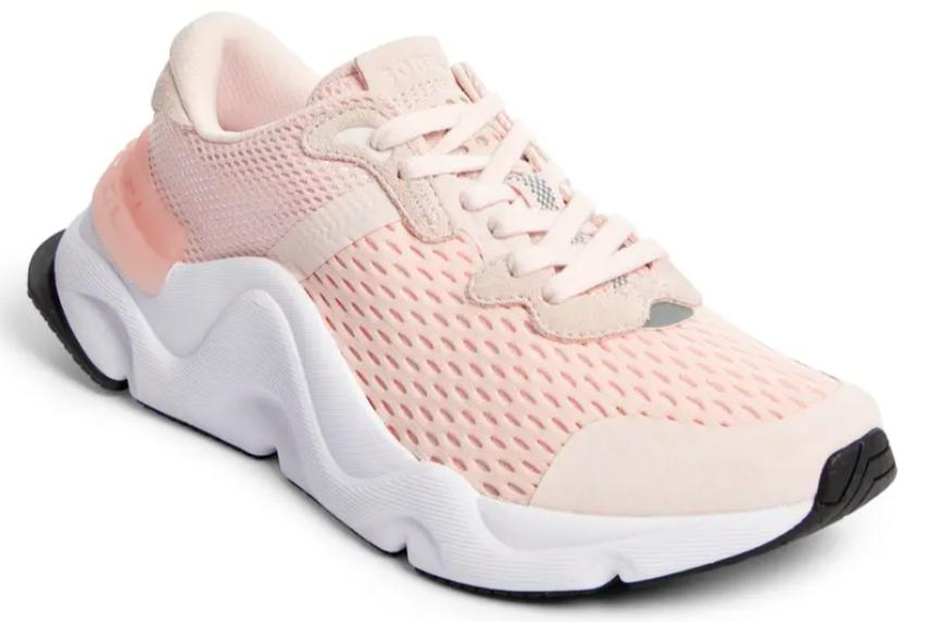 TheKinetic Renegade Mesh Sneaker in powder pink