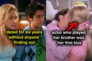 Aly Michalka and Ricky Ullman dated for six years without anyone finding out, the actor who played Marcia Brady got her first kiss from an actor who played her brother