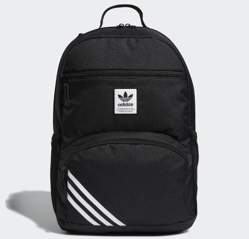 a backpack with three zip-up pockets