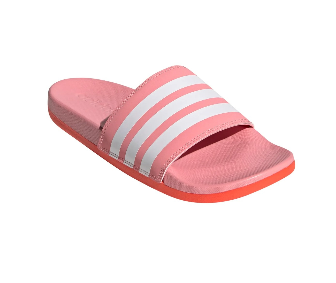 the Adidas slide sandal in pink