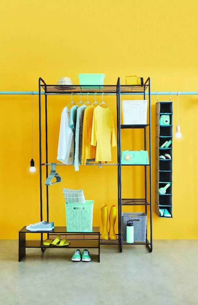 A freestanding closet