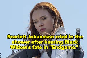 """Scarlett Johansson cried in the shower after hearing Black Widow's fate in """"Endgame."""""""